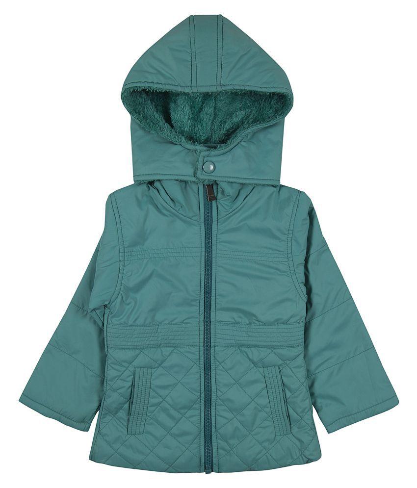 Zoravie Girl's Polyester Full Sleeves Solid Jacket - Blue