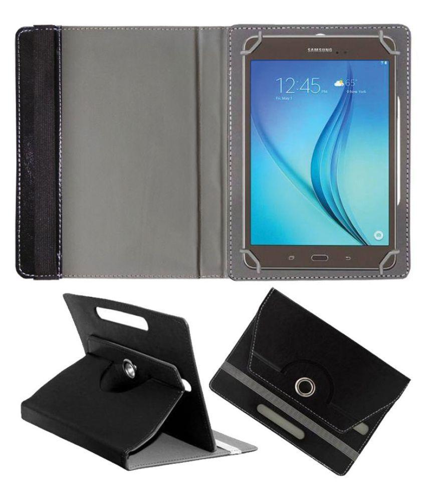 Samsung Galaxy Tab A T355Y Flip Cover By FASTWAY Black