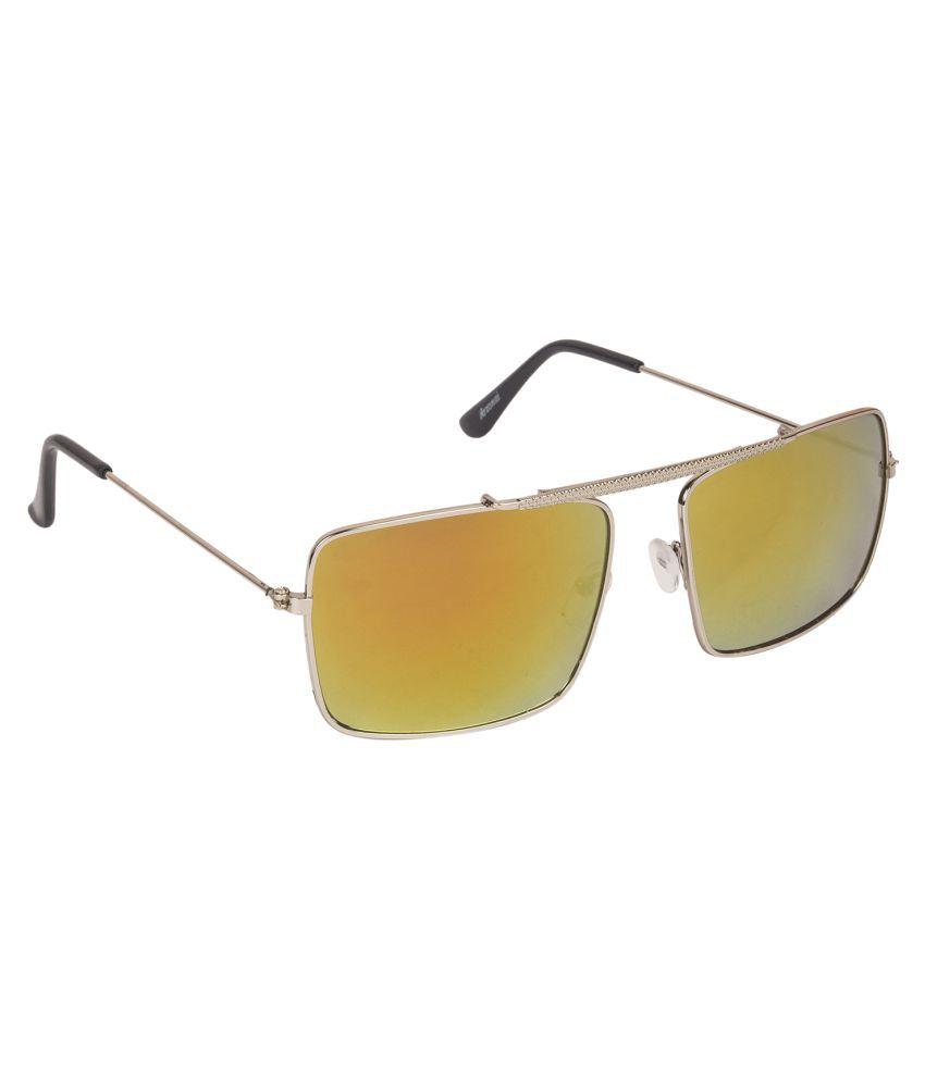 Arzonai Orange Rectangle Sunglasses ( MA-083-S4 )