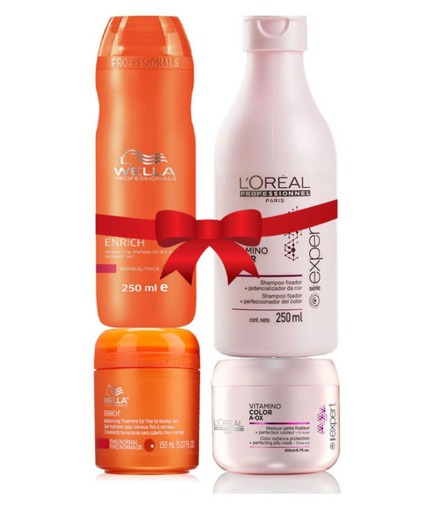 Loreal Imported Color Aox Combo With Free Wella Enrich Combo Shampoo