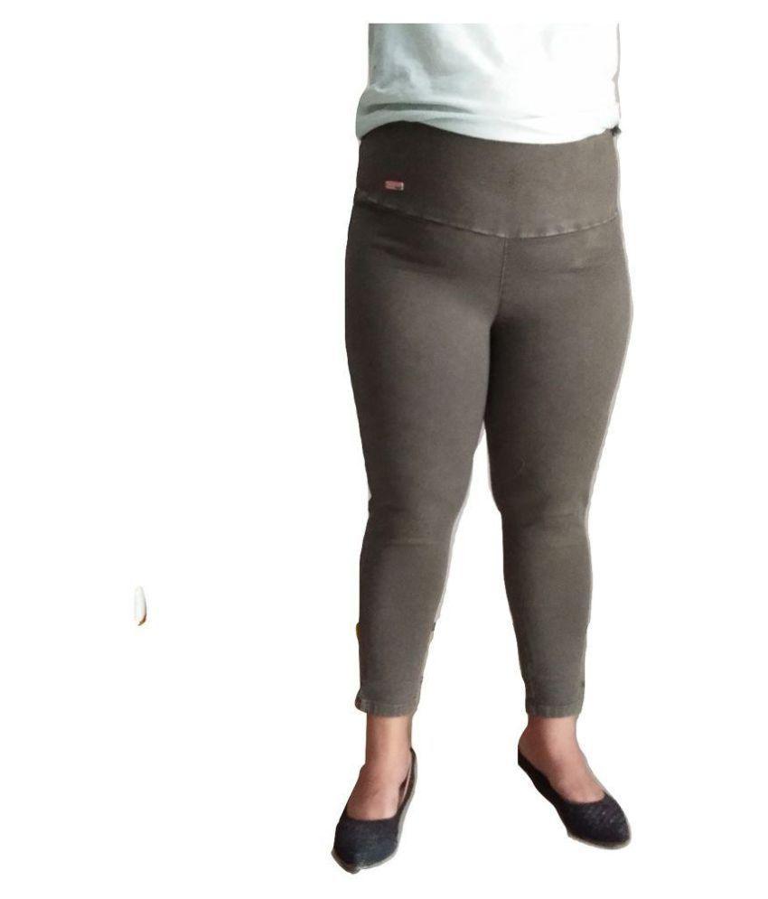BRANDS AT LESS Denim Lycra Jeggings - Grey