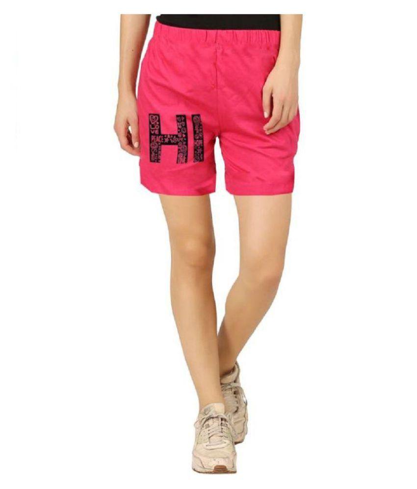 Hotfits Graphic Print Women's Light Blue Basic Shorts