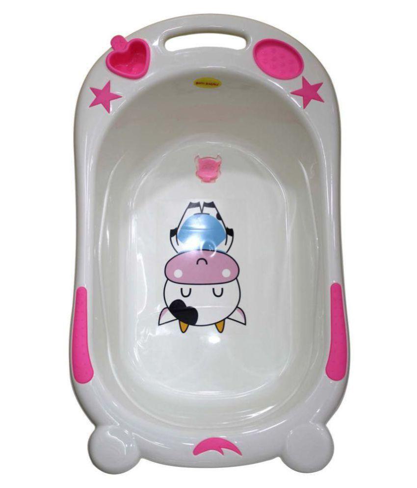 Born Babies White Plastic Baby Bath Tub: Buy Born Babies White ...