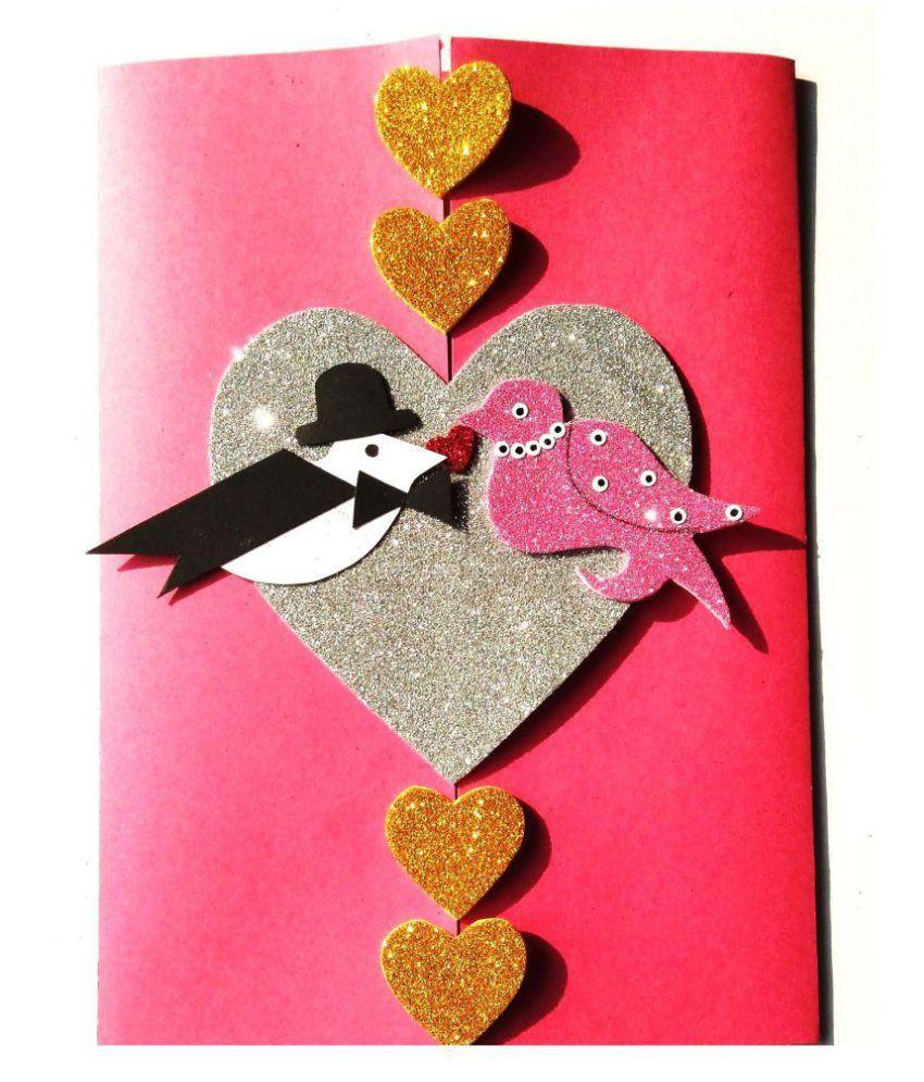 Handmade Love Birds Greeting Valentines Greeting Card For Love