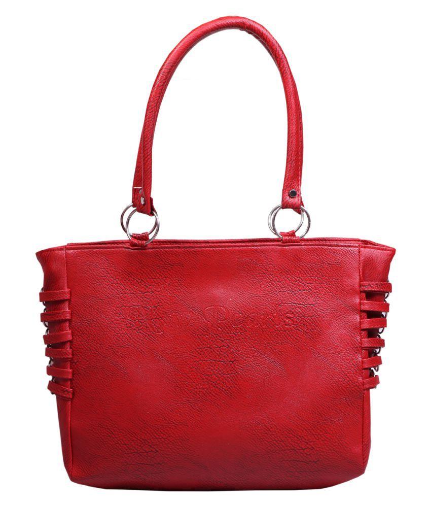 Lee Foster Red P.U. Shoulder Bag
