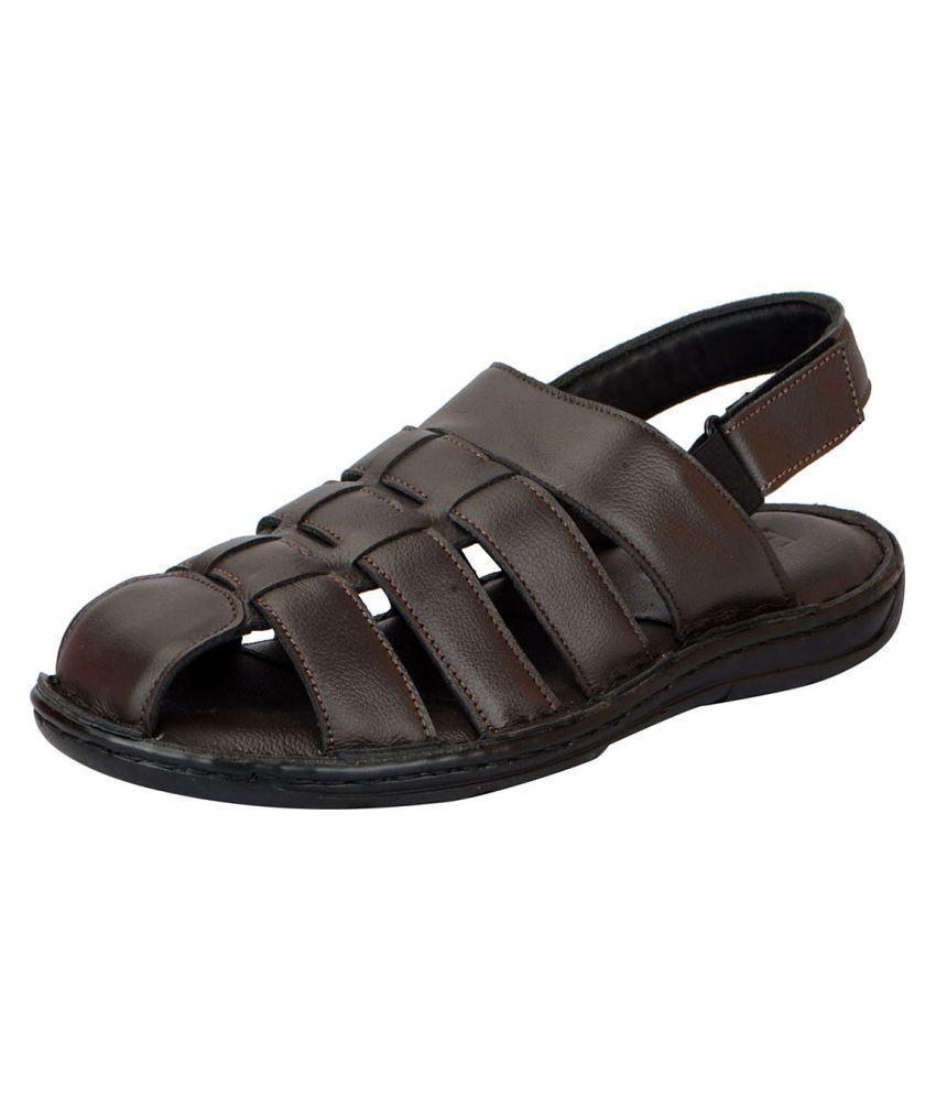 971868628ec1 FAUSTO Men s Leather Brown Sandals Price in India- Buy FAUSTO Men s Leather  Brown Sandals Online at Snapdeal