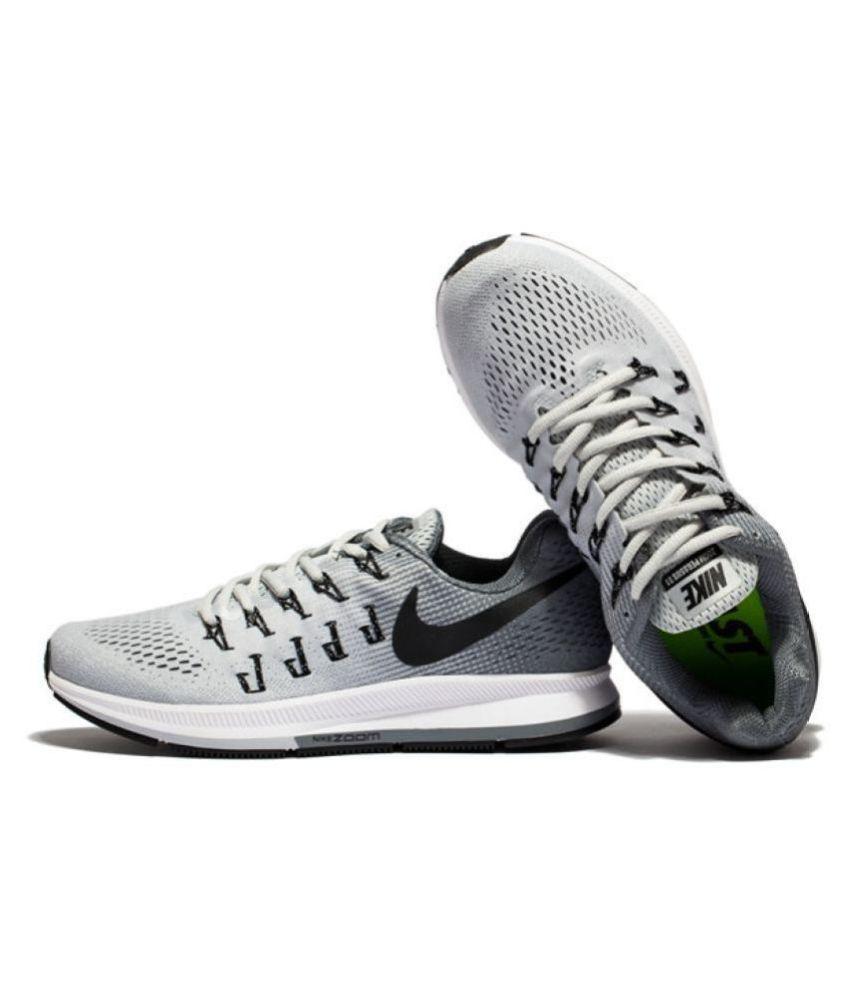 Nike Zoom Pegasus 33 Gray Running Shoes ...