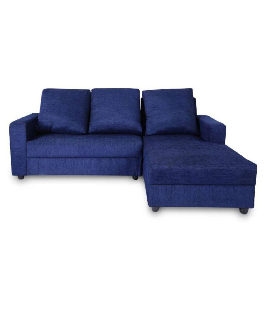 Sectional Sofa India Online: Westido Lazy Fabric 5 Seater Sectional Sofa Set