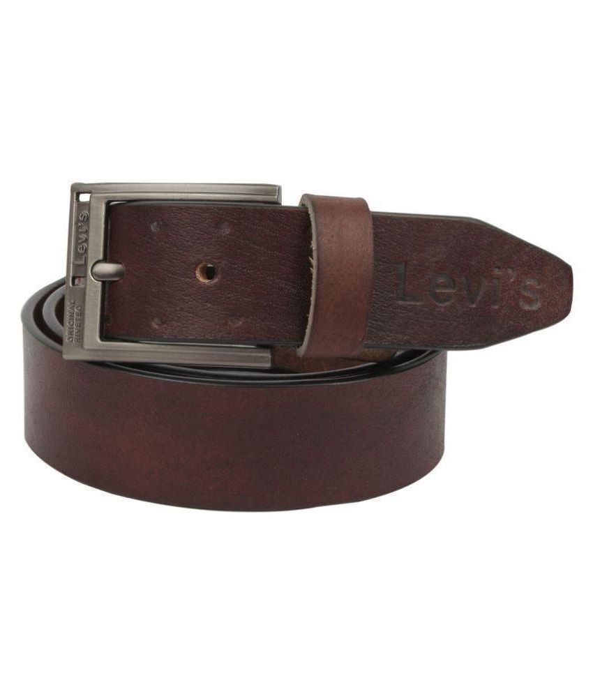 levi's Brown Leather Casual Belts
