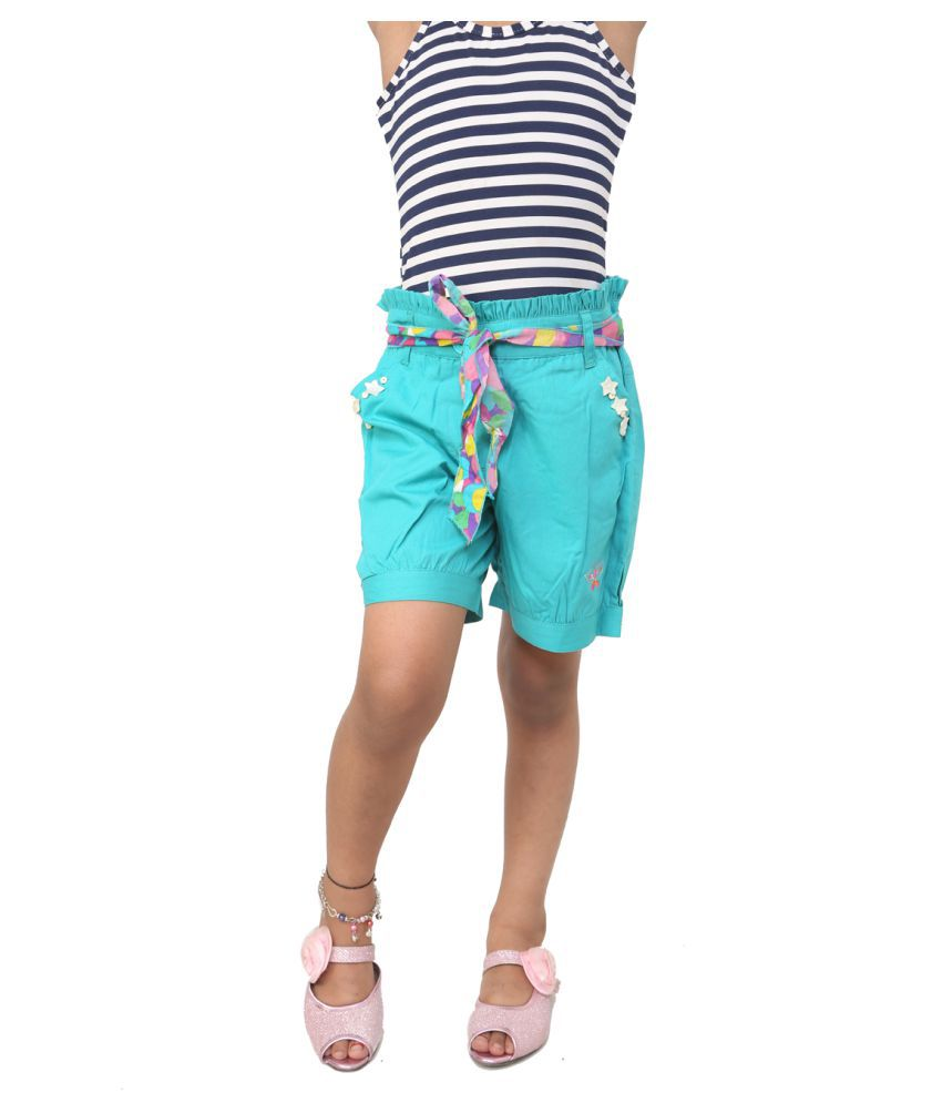 Kavyas kids sky blue shorts