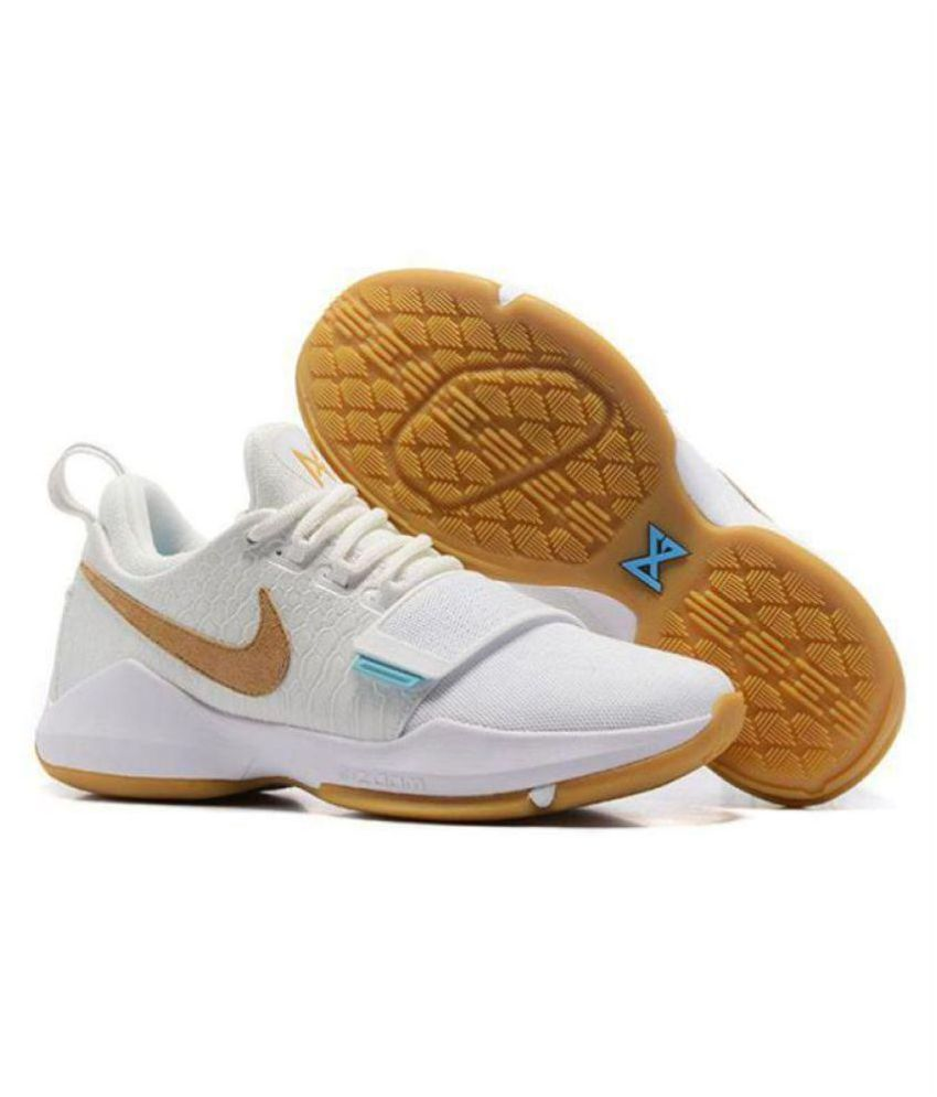 f8c0428eef95 Nike PG 1 PAUL GEORGE White Basketball Shoes - Buy Nike PG 1 PAUL GEORGE  White Basketball Shoes Online at Best Prices in India on Snapdeal
