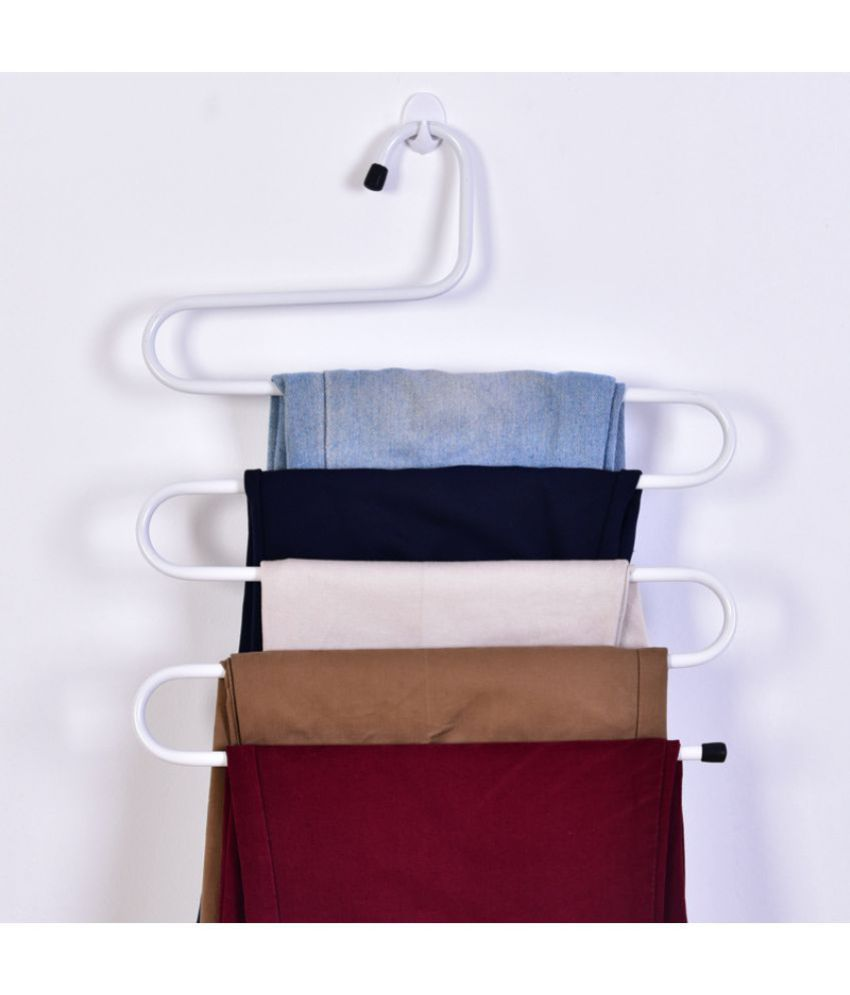 House of Quirk Metal S-shape 5 Layers Magic Pants Trouser Hanger