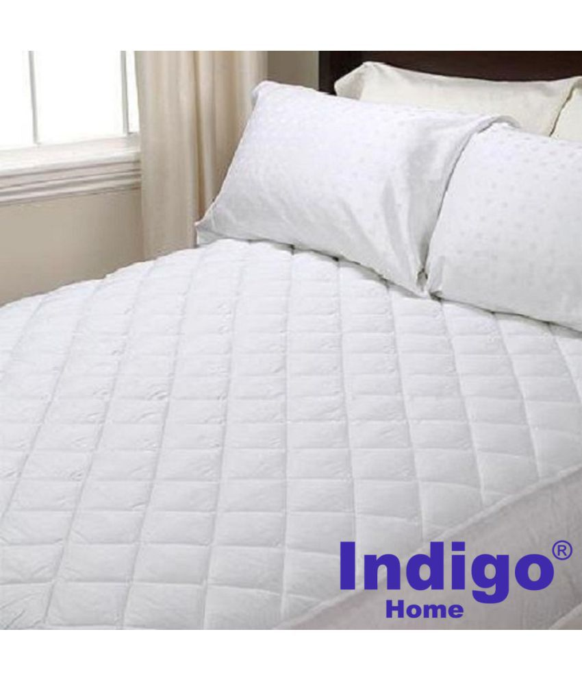 Indigo 75 X 70 Double Bed Waterproof And Dustproof White Cotton