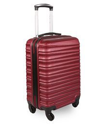 Fly Red Small 4 Wheel Cabin Hard Luggage (Below 60cm)