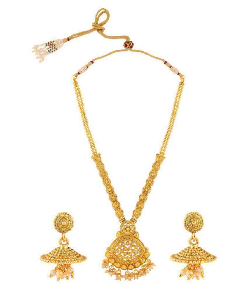 Elakshi Gold Plated Alloy Necklace Set For Women