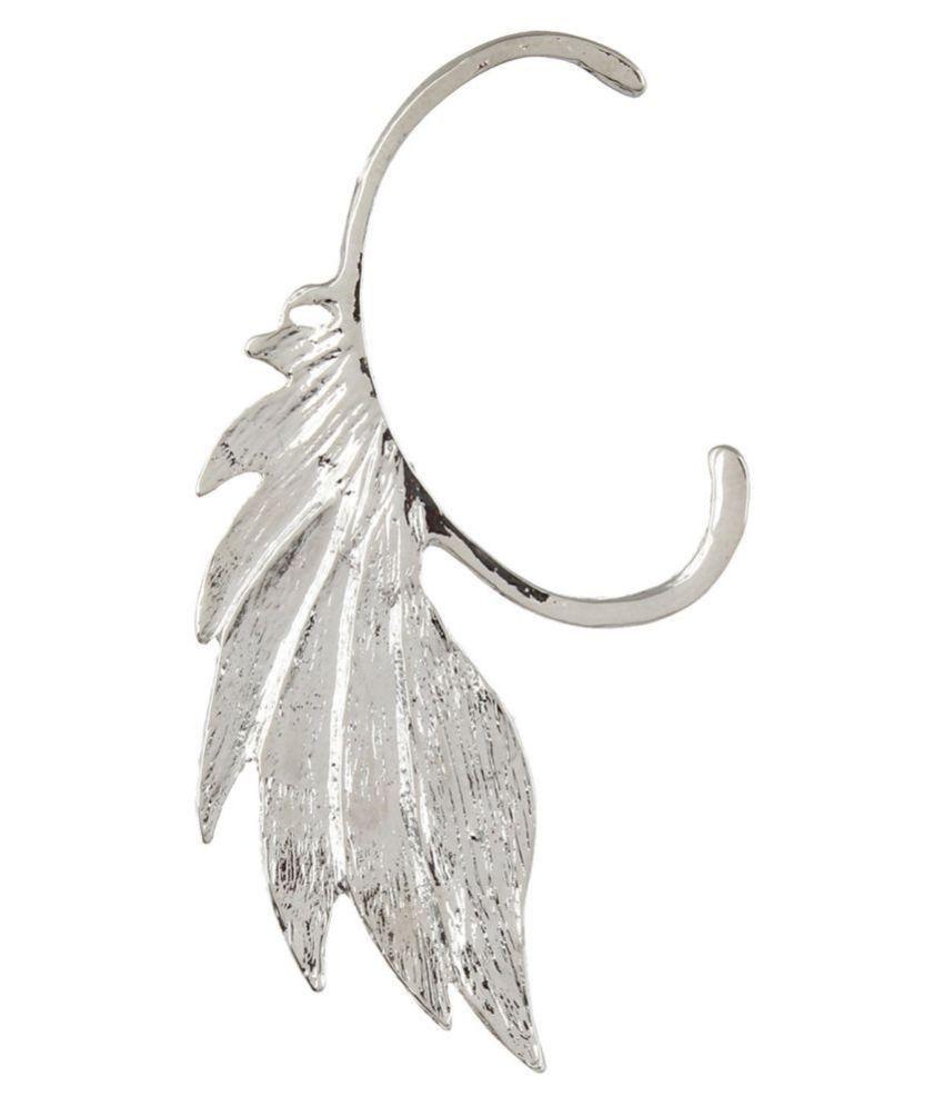 Fayon Chic Stylish Silver Graceful Leaf Ear cuff
