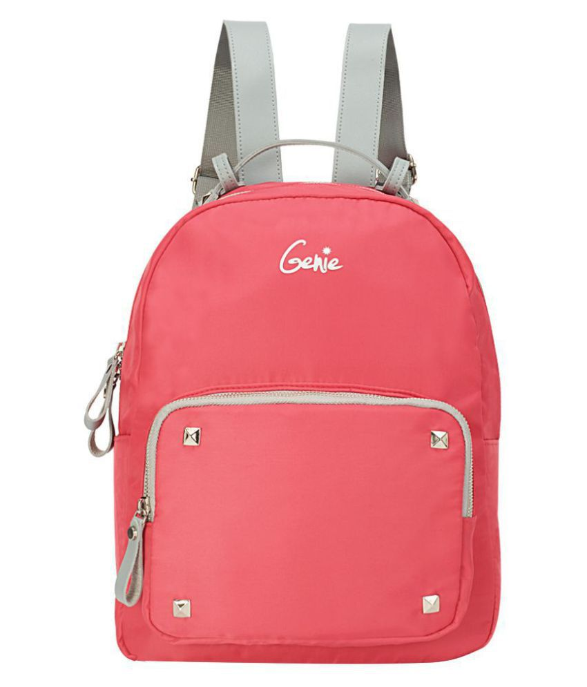 97a6e0d820c0 Genie Pink Nylon College Bag - Buy Genie Pink Nylon College Bag Online at Best  Prices in India on Snapdeal