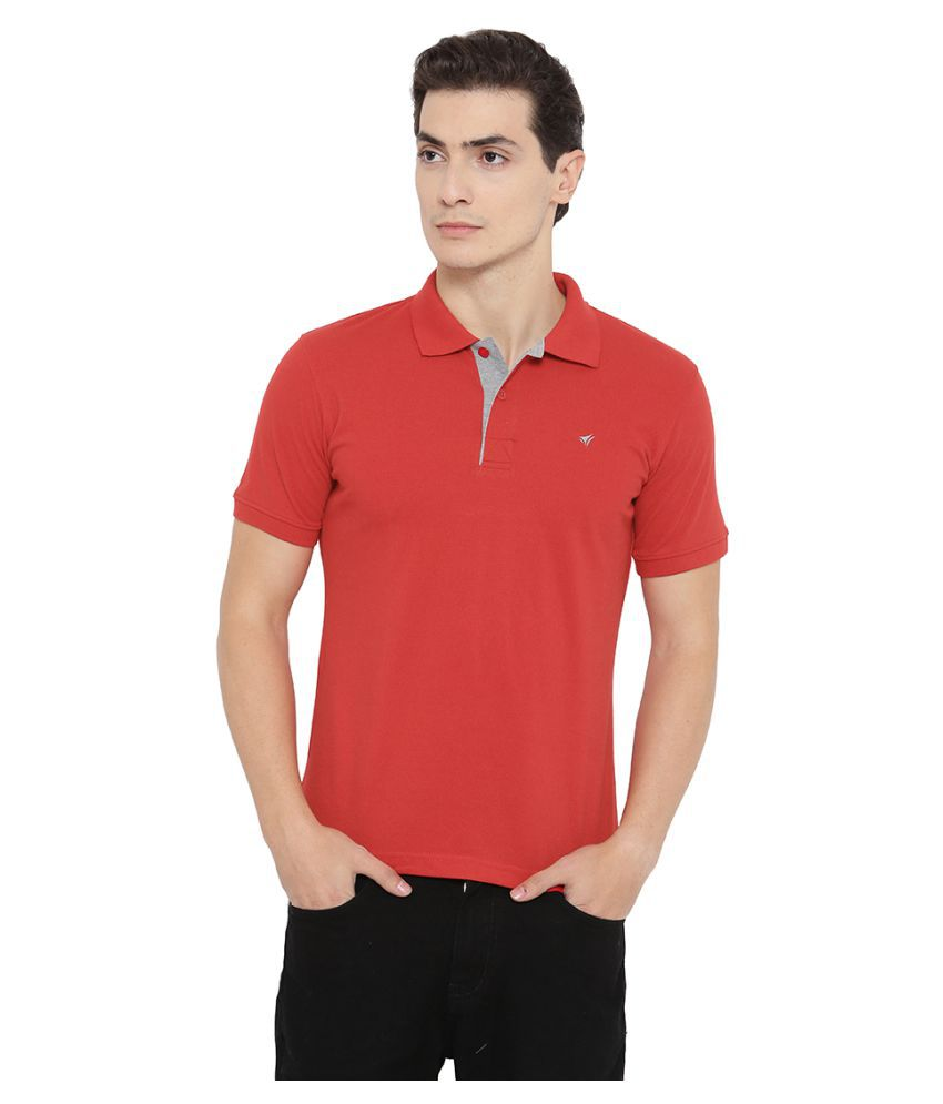 Neva Red High Neck T-Shirt