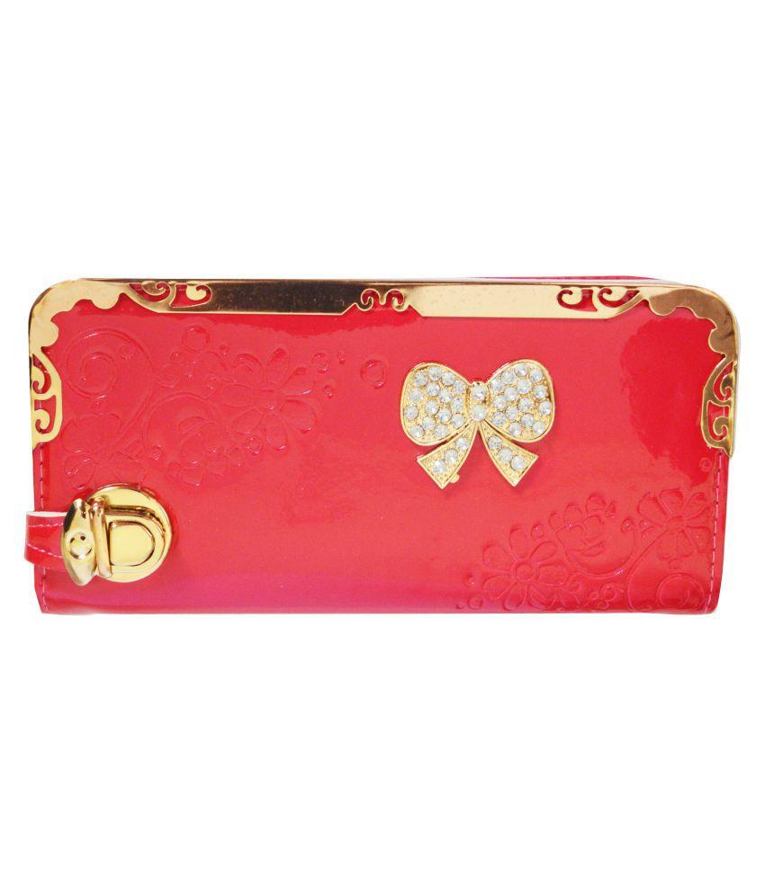 Glitters Online Pink Wallet