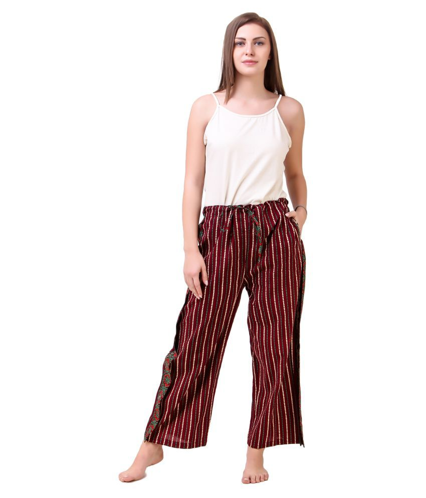 Masha Cotton Pajamas - Maroon