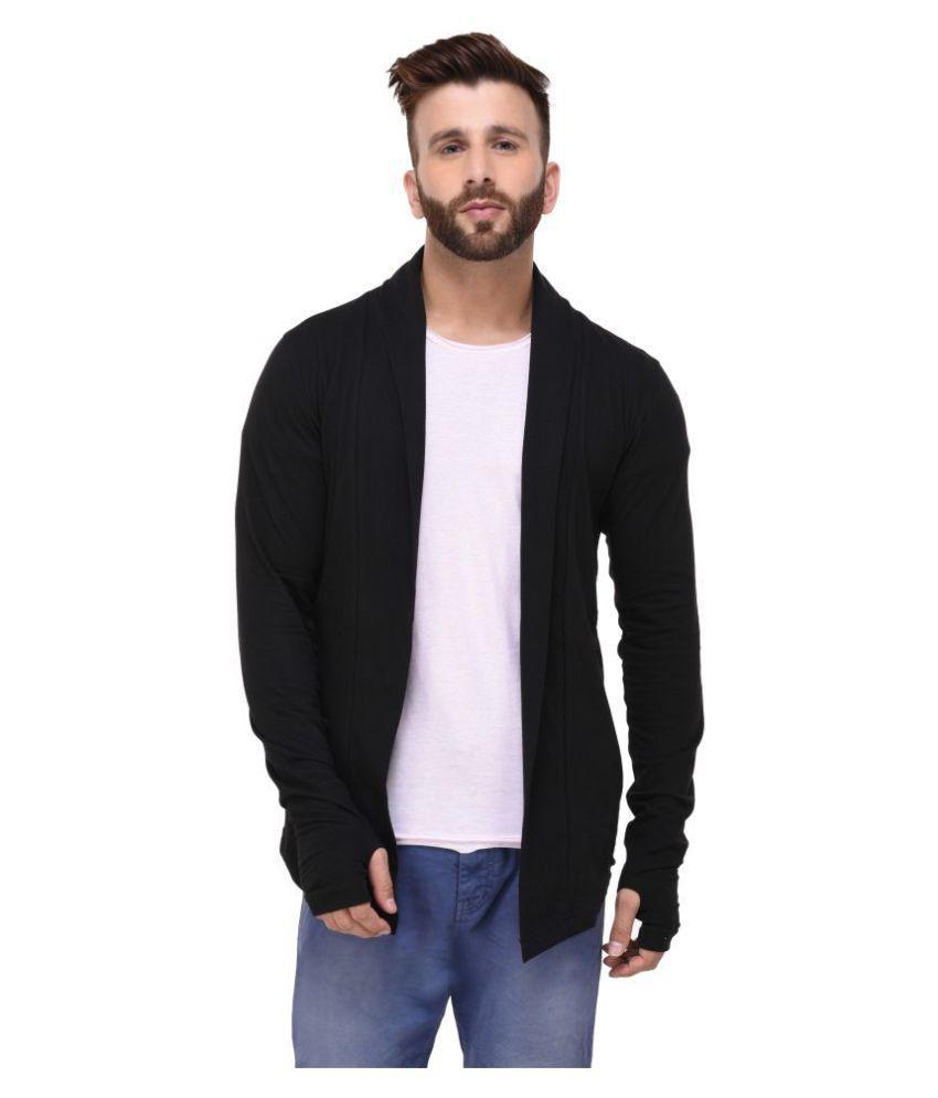 RIGO Black Spread Collar Sweater