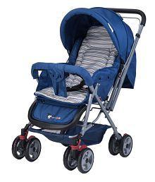 Toyhouse Baby Stroller Pram Universal, BlueStriped