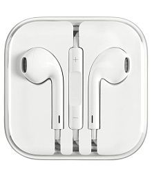 Stark Apple Headset For Iphone 4s,5s, 6s White In Ear Wired Earphones With Mic