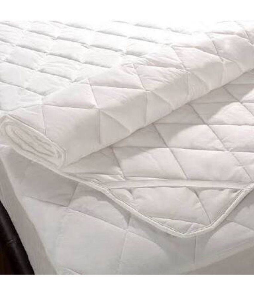 dhawariya s waterproof dustproof double bed white poly cotton