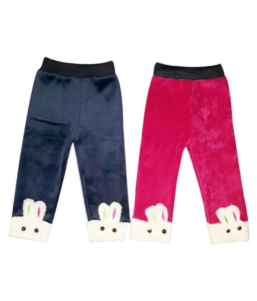 Fanzi Woollen Multicolor Pyjama (pack Of 2)