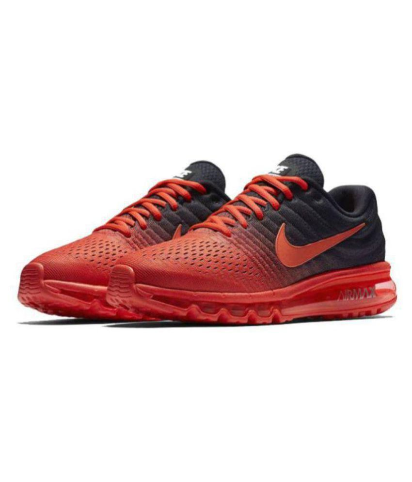 half off 885ed 7a647 Nike Airmax 2017 All Colour Burgundy Running Shoes - Buy Nike Airmax 2017  All Colour Burgundy Running Shoes Online at Best Prices in India on Snapdeal