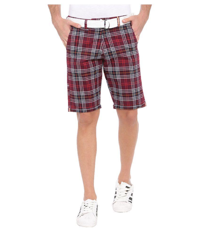 SHOWOFF Maroon Shorts