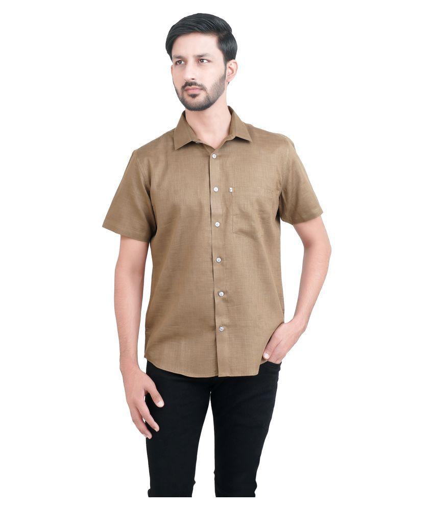 favio Brown Slim Fit Shirt