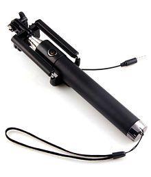 Deepcellmart Black Aux Wire Selfie Stick - 86 cm
