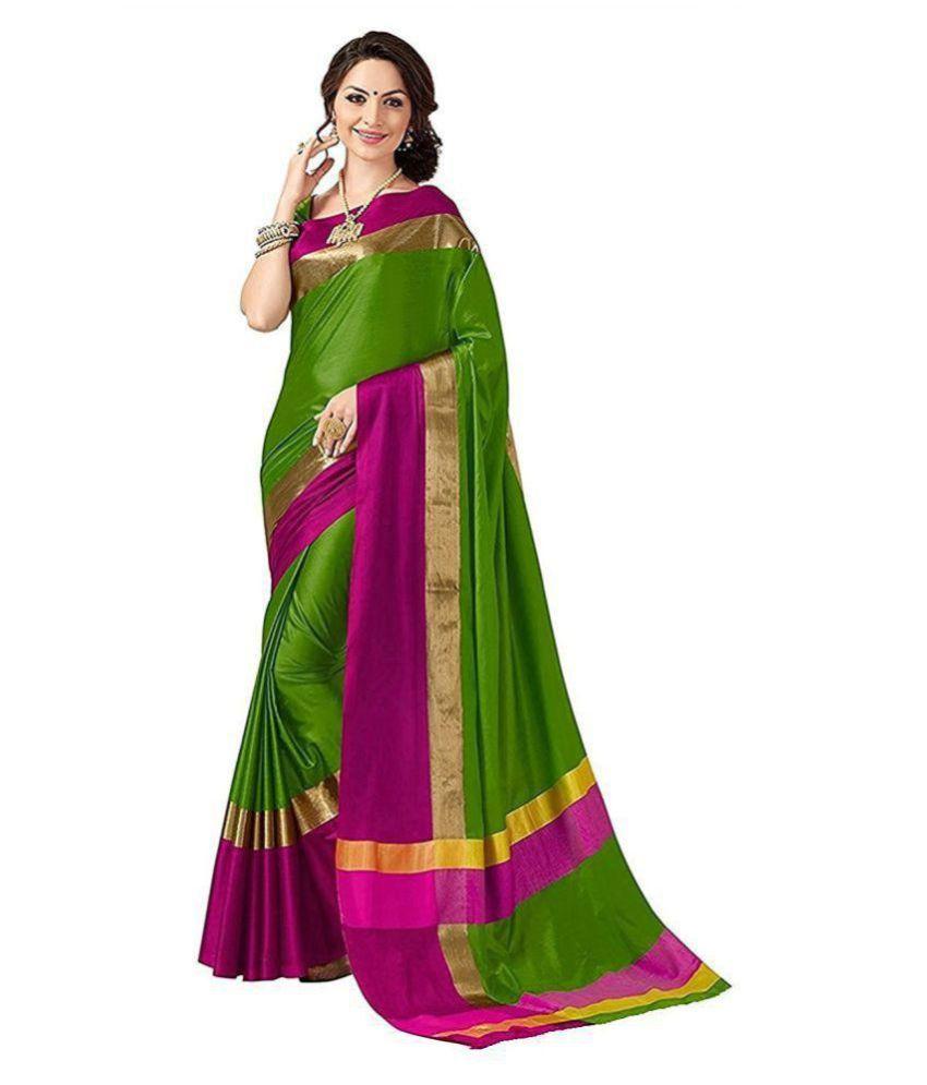 3871fa1260 Shailaja Sarees Green and Purple Art Silk Saree - Buy Shailaja ...