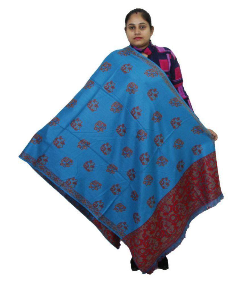 Vrinde Blue Kashmiri Shawl