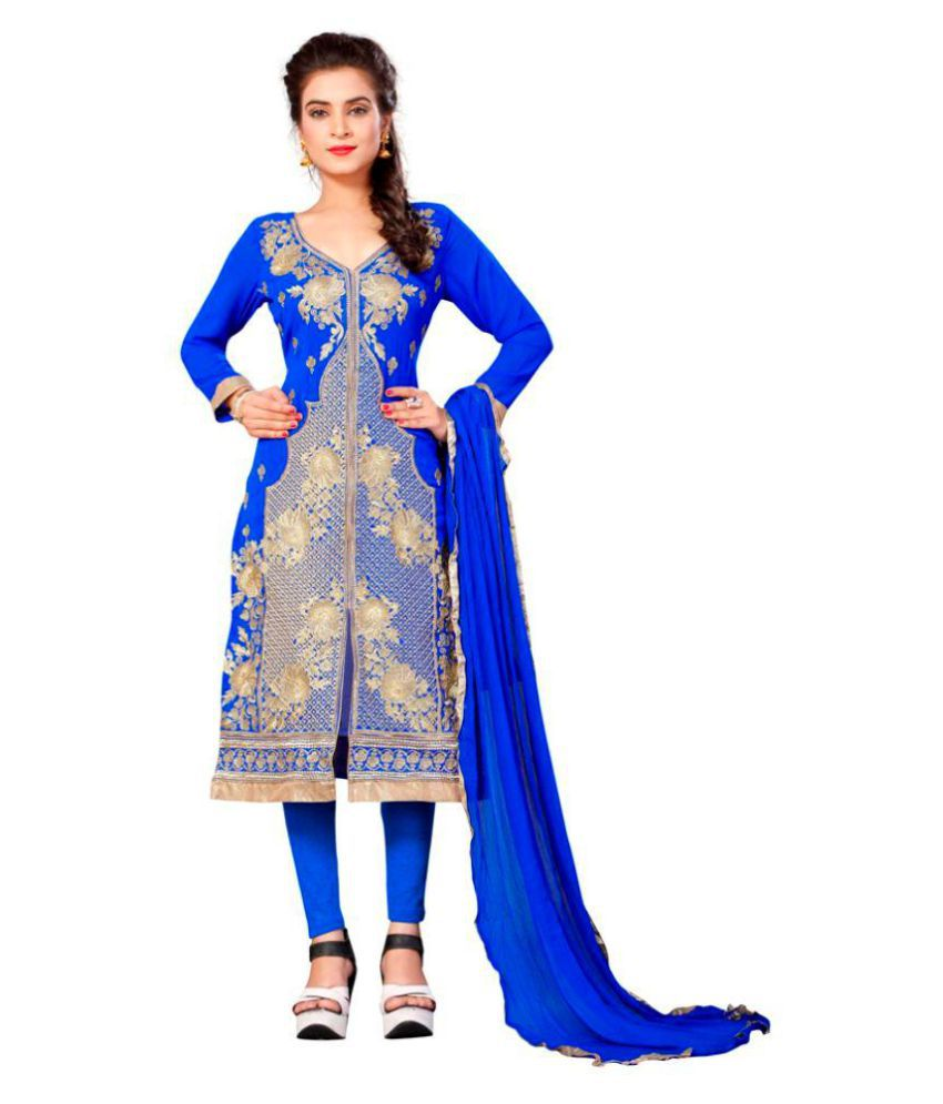 Mavani Blue Georgette Sherwani Suits Stitched Suit
