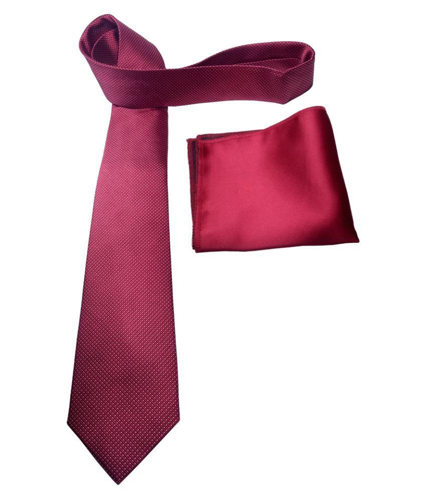 Mentiezi Maroon Printed Silk Necktie
