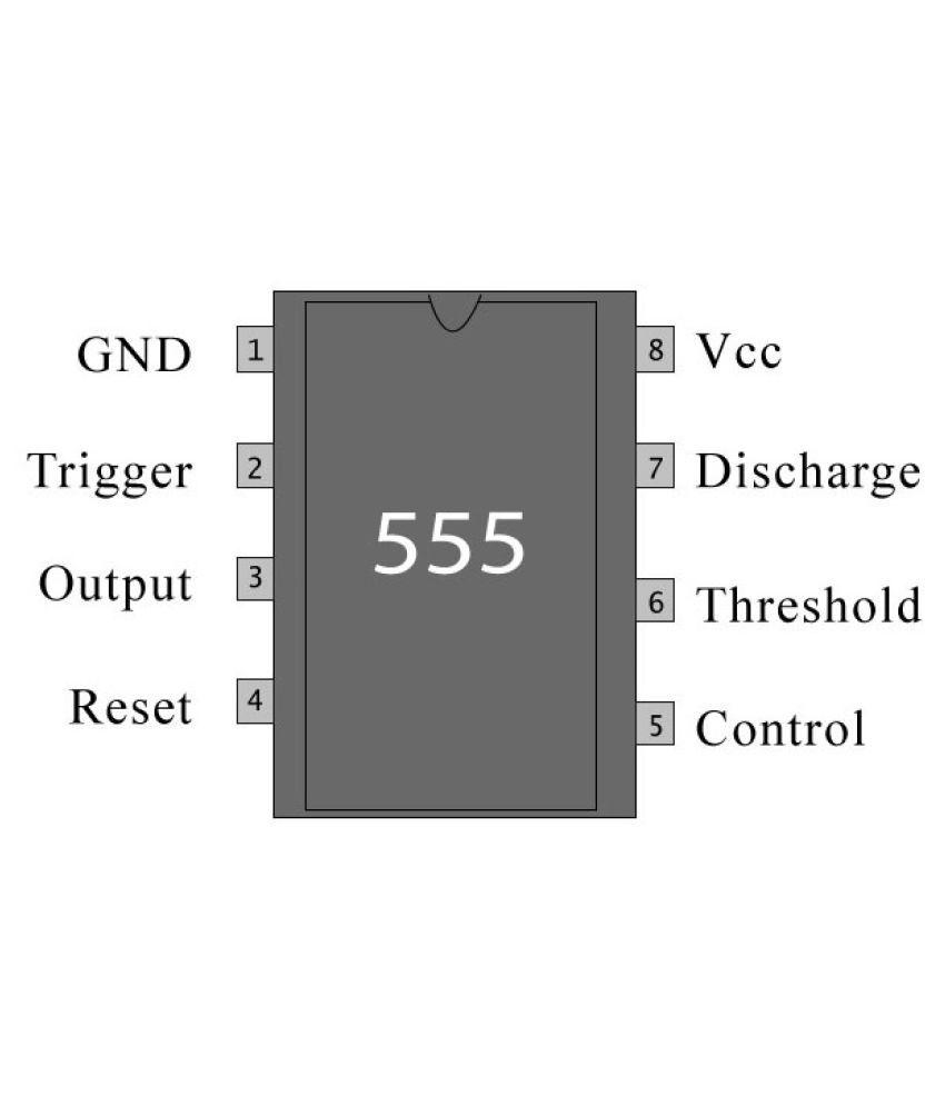 Practhink Ne555 Timer Ic Pack Of 10 Buy 555 8