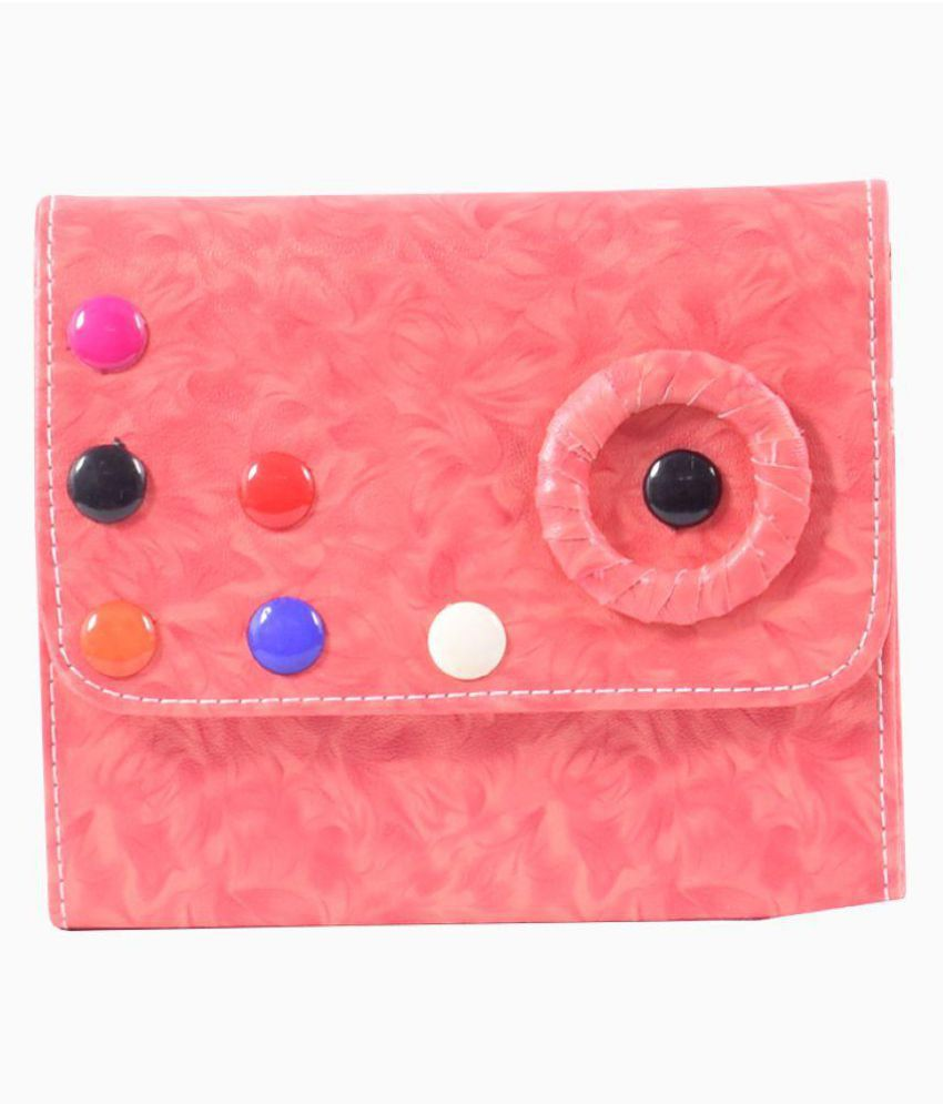 clothi fashion Pink Pure Leather Box Clutch