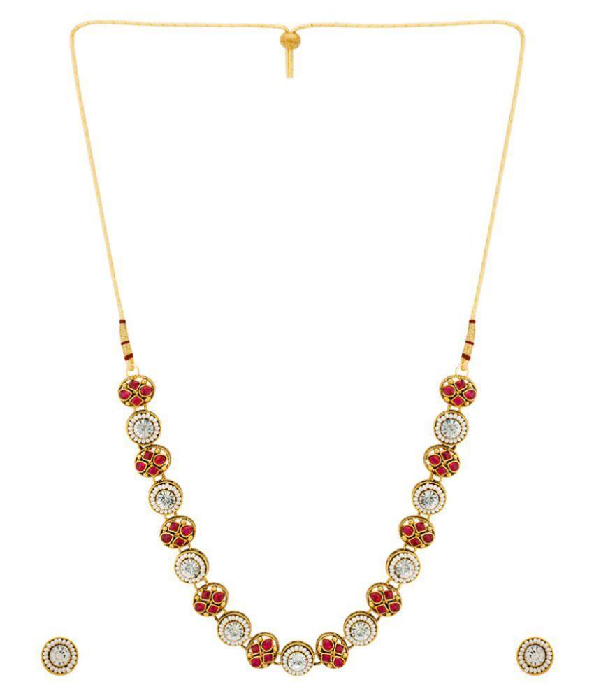 Nia Kundan Studded Necklace Set