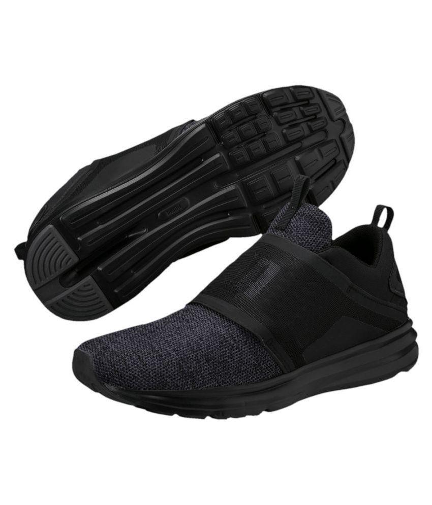 4b31757ef47 Puma ENZO STRAP KNIT MEN S Black Running Shoes - Buy Puma ENZO STRAP ...