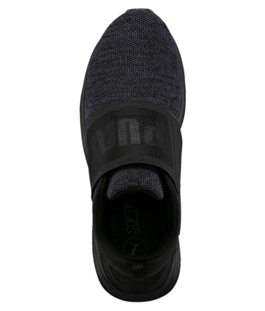 Puma ENZO STRAP KNIT MEN S Black Running Shoes - Buy Puma ENZO STRAP ... f83e94290