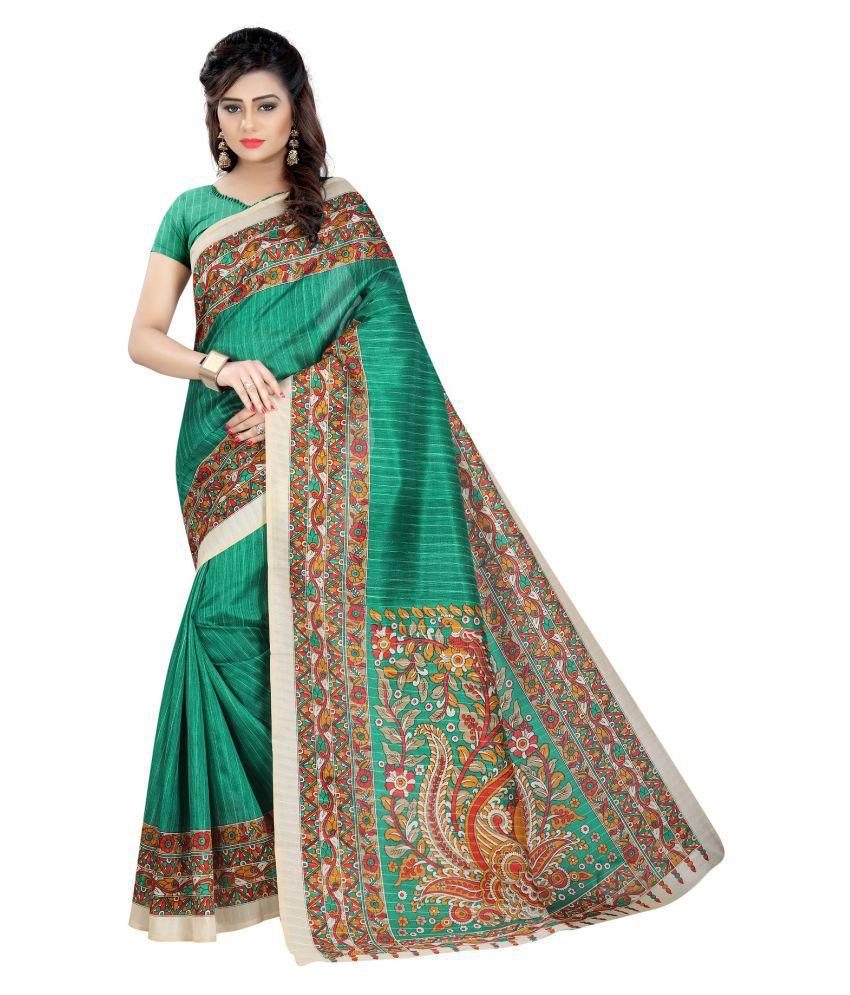 Fashion and hub Multicoloured Art Silk Saree