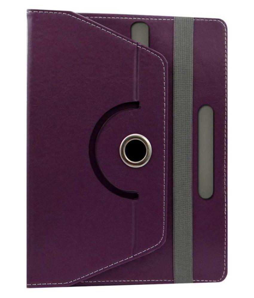 Huawei Honor T1 Flip Cover By Fastway Purple