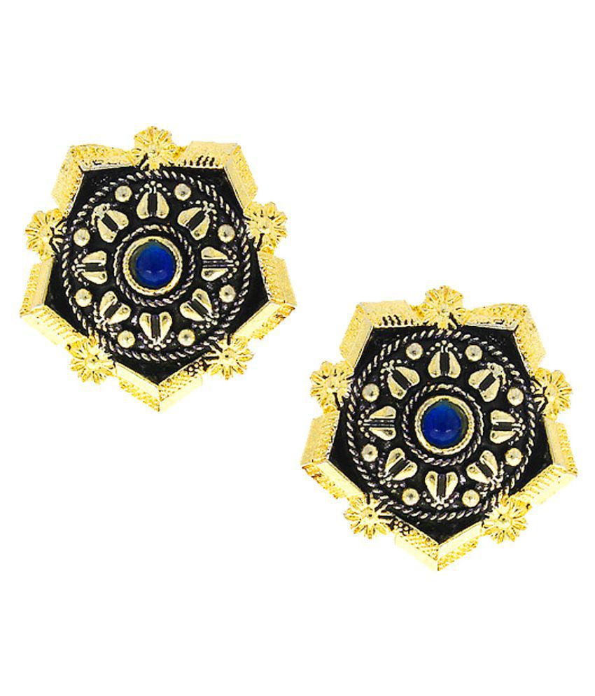 Anuradha Art Two-Tone Blue Colour Very Classy Designer Oxidised Studs Earrings For Women/Girls