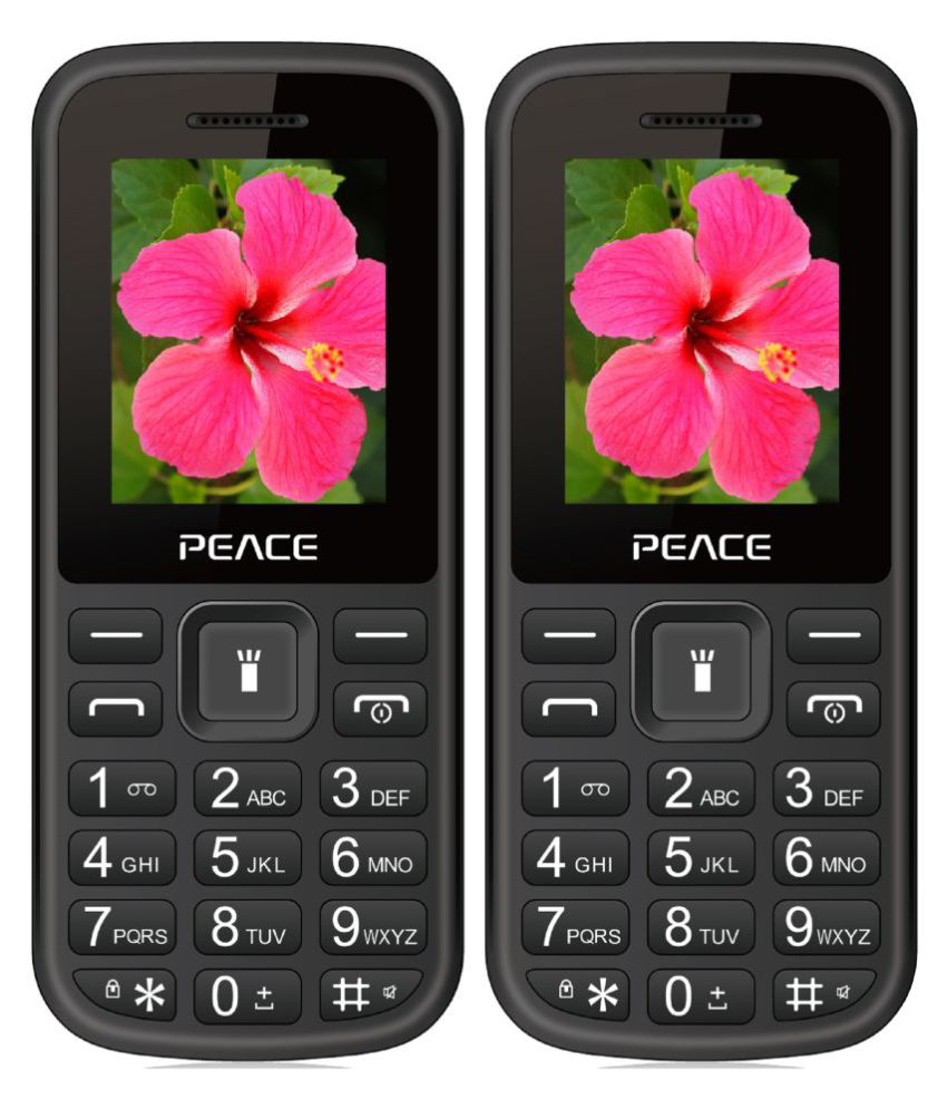 Peace P1 COMBO OF TWO MOBILE (Black & Black) Black