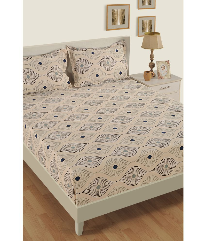 Swayam Cotton Double Bedsheet with 2 Pillow Covers