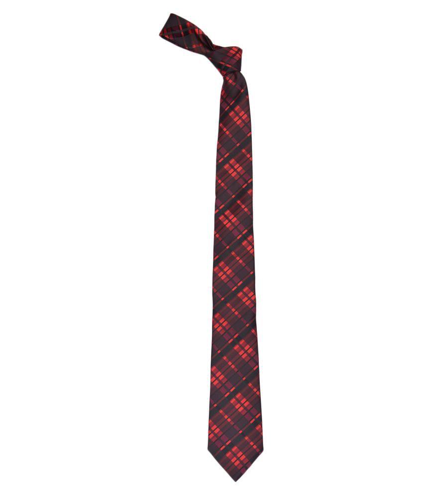 Alvaro Castagnino Maroon Stripes Micro Fiber Necktie