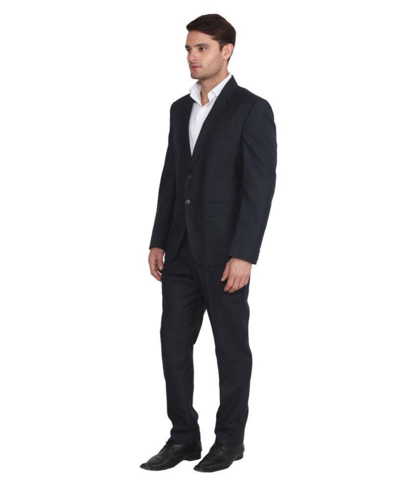 db53dcfdc1f Hangup Navy Solid Formal 2 Piece Suits - Buy Hangup Navy Solid ...