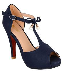 sherrif shoes Navy Stiletto Heels
